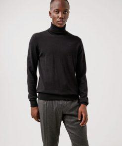 J.Lindeberg Lyd Merino Turtle Neck Sweater Black