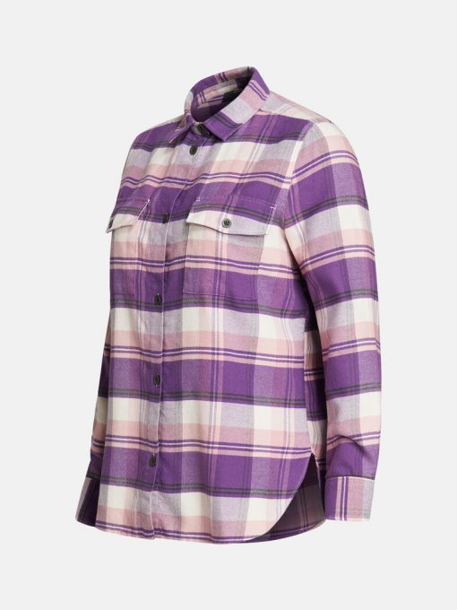 Peak Performance Kelly Flanell Shirt Women Lilac