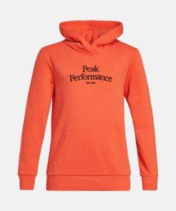 Peak Performance Original Hoodie Junior Zeal Orange