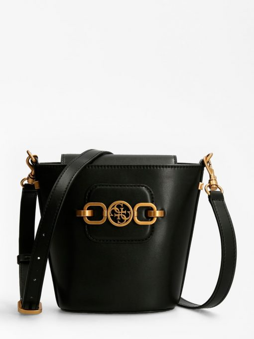Guess Hensely Bucket Bag Black