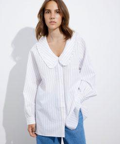Envii Enhayes Shirt Light Pinstripe