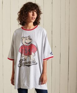 Superdry Collegiate Oversized T-Shirt Glacier Grey Marl