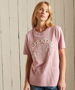 Superdry Pride In Craft T-Shirt Soft Pink