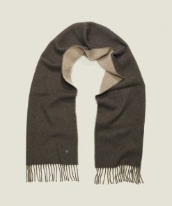 Morris Stockholm Double Face Scarf Brown