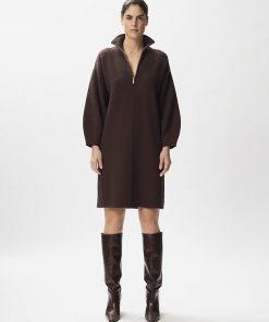 Gestuz Talligz Zipper Dress Coffee Bean