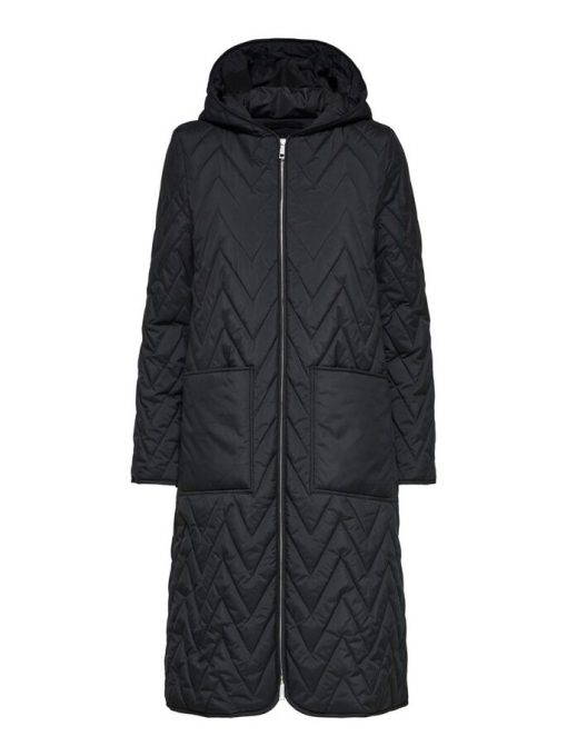 Selected Femme Nora Quilted Coat Black