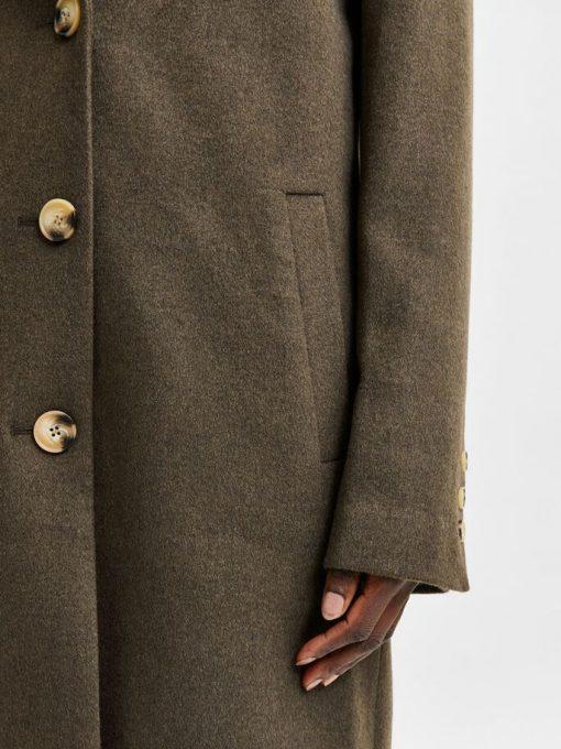 Selected Femme New Sasja Wool Blend Coat Tarmac