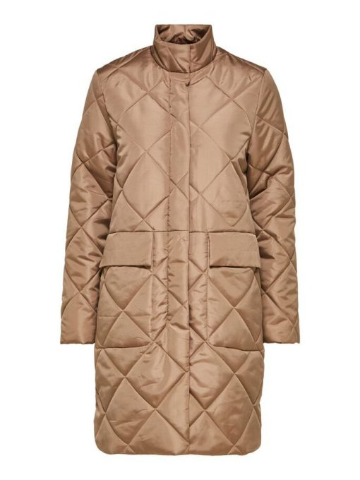 Selected Femme Naddy Quilted Coat Caribou
