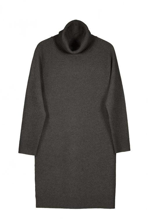 Balmuir Stella High Neck Dress Charcoal Grey