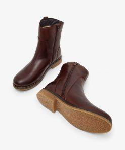 Bianco Biaatalia Winter Leather Boots Dark Brown