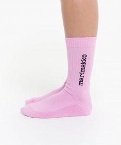 Marimekko Aarni Single Logo Sock Pink