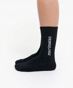 Marimekko Aarni Single Logo Sock Black