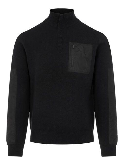 J.Lindeberg Benny Hybrid Knit Sweater Black