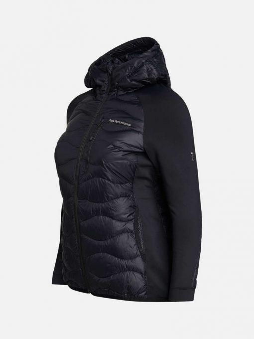 Peak Performance Helium Hybrid Down Hood Jacket Women Black