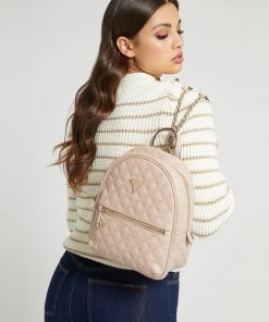 Guess Quilted Cessily Backpack Light Pink