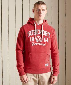 Superdry Track & Field Hoodie Rouge Red Marl