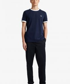 Fred Perry Taped Ringer T-Shirt Carbon Blue