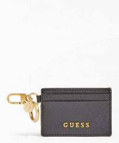 Guess Card Case Keyring Black