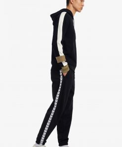 Fred Perry Taped Track Pants Black