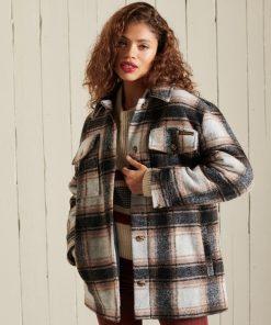 Superdry Overshirt Jacket Winter Check