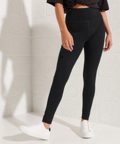 Superdry Corporate Logo High Waist Leggings Black