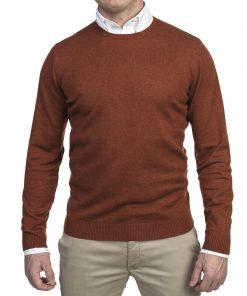 Hansen & Jacob Crewneck Sweater Alcantara E-P Red