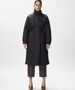 Gestuz Evalagz Quilted Coat Black