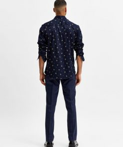 Selected Homme Slim Flex Shirt Mood Indigo