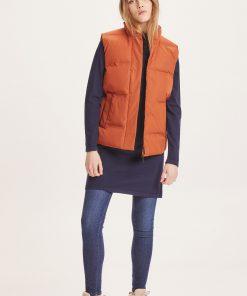 Knowledge Cotton Apparel Alyssa Puffer Vest Red