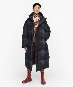 Marimekko Matkalla Kivet Down Coat Blue