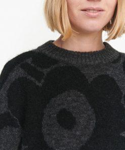 Marimekko Polkujen Unikko Knit Black