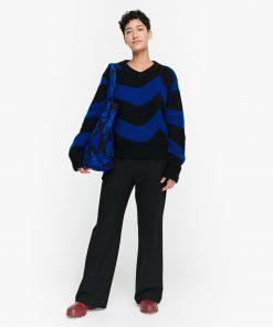 Marimekko Puronvarsi Laine Knit Blue