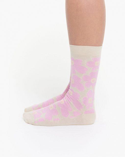 Marimekko Hieta Unikko Socks White