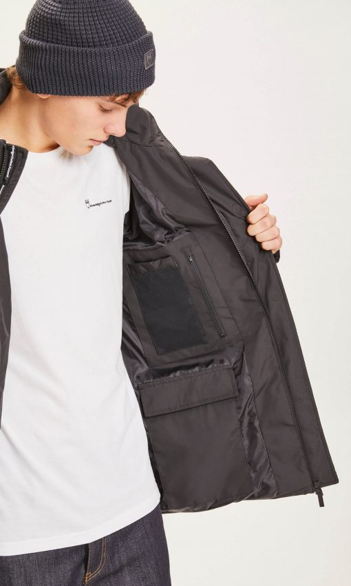 Knowledge Cotton Apparel Fjord Puffer Jacket Black
