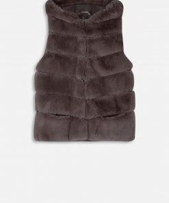 Rino & Pelle Denise faux Fur Waistcoat Morel
