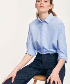 Samsoe & Samsoe Caico Shirt Oxford Blue