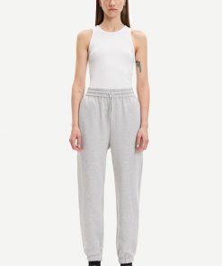 Samsoe & Samsoe Carmen Trousers Light Grey Melange