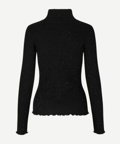 Samsoe & Samsoe Layla T-neck Ls Shirt Black