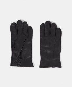 J.Lindeberg Milo Leather Gloves Black